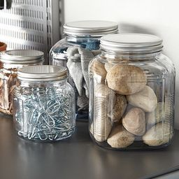 Anchor Hocking Glass Cracker Jars with Aluminum Lids   The Container Store
