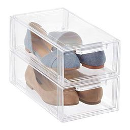 Clear Stackable Small Shoe Drawer | The Container Store