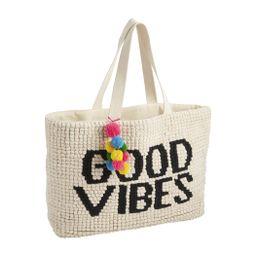 Good Vibes Summer Tote Bag | Mud Pie (US)