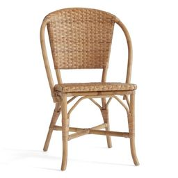 Parisian Woven Rattan Dining Chair, Natural   Pottery Barn (US)