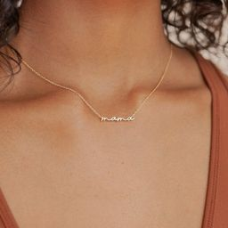 Dainty Mama Necklace by Caitlyn Minimalist in Sterling Silver, Gold & Rose Gold • Mom Necklace ...   Etsy (US)