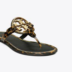 Miller Metal-Logo Sandal, Printed Patent Leather   Tory Burch (US)