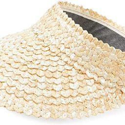 Straw Visor for Women and Men, Unisex Gardening Hat (4.5 x 22 in) Beige | Amazon (US)