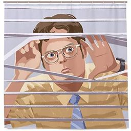 Dwight Schrute Shower Curtain The Office TV Show Bath Curtain Waterproof Bathroom Curtain with 12... | Amazon (US)