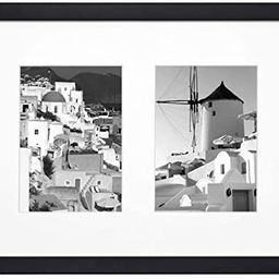 Golden State Art, 11x14 Black Photo Wood Collage Frame with Real Glass and White Mat displays (2)... | Amazon (US)