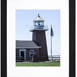 Golden State Art 11x14 Photo Wood Frame with Mat for 8x10 Picture BLACK | Amazon (US)
