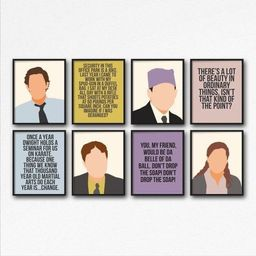 The Office tv show Print Set - Michael Scott, Jim Halpert, Pam Beesley Dwight Schrute, the office... | Etsy (US)
