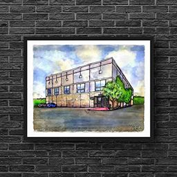 Pam's Painting // The Office Decor dunder mifflin the office merchandise gifts office quotes mich... | Amazon (US)