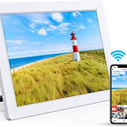 Digital Picture Frame 10.1 Inch Digital Photo Frame WiFi Picture Frames IPS Touch Screen Share Vi... | Amazon (US)