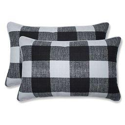 Black Buffalo Check Lumbar Pillows, Set of 2   Kirkland's Home