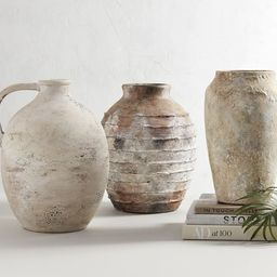Artisan Hand Painted Earthenware Vases   Pottery Barn (US)