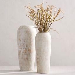 Handmade Mango Wood Vases   Pottery Barn (US)