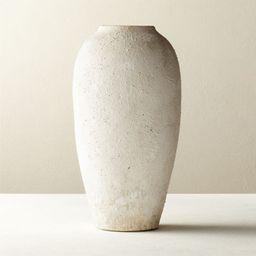 Torino White Textured Vase + Reviews   CB2   CB2