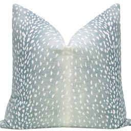 Antelope Linen Print // Spa Blue | LITTLE DESIGN COMPANY
