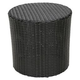 Keaton Wicker Barrel Patio Side Table - Christopher Knight Home, Patio, Outdoor Furniture   Target