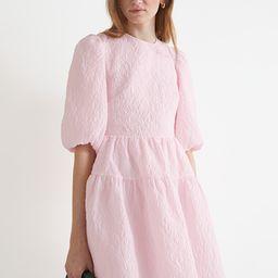Puff Sleeve Jacquard Mini Dress | & Other Stories