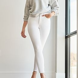 High Waisted White Curvy Skinny Jeans | Express