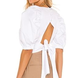 Bardot Puff Sleeve Top in Orchid White from Revolve.com   Revolve Clothing (Global)
