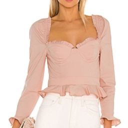 MAJORELLE Corie Top in Baby Blush from Revolve.com   Revolve Clothing (Global)