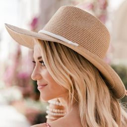 Lift Your Spirits Brown Straw Hat | The Pink Lily Boutique