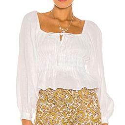FAITHFULL THE BRAND Bellano Top in Plain White from Revolve.com   Revolve Clothing (Global)