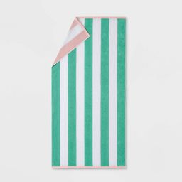 Reversible Cabana Striped Beach Towel - Sun Squad™ | Target