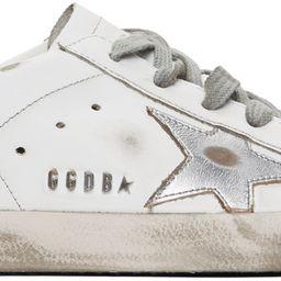 Silver & Gold Superstar Sneakers   SSENSE