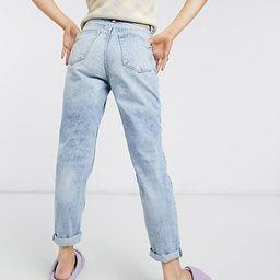 Bershka organic cotton mom jean in light blue | ASOS (Global)