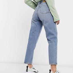 Monki Taiki organic cotton high waist mom jeans in light blue | ASOS (Global)