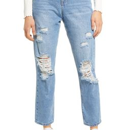 Ripped High Waist Mom Jeans | Nordstrom