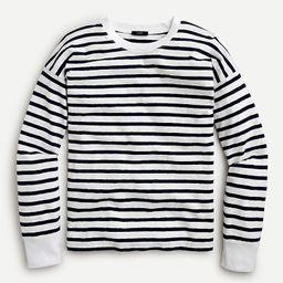 Long-sleeve slub cotton T-shirt in stripe | J.Crew US