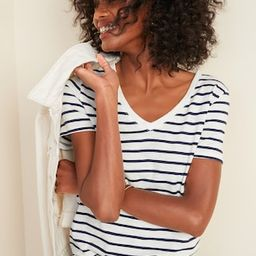 EveryWear Striped Slub-Knit V-Neck Tee | Old Navy (US)
