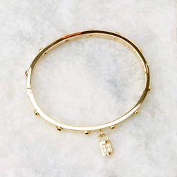 Lock Gold Bracelet | Red Dress