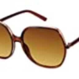 TAHARI TH739 Square Translucent UV Protective Hexagon-Shaped Sunglasses | Wear Year-Round | A Gift o | Amazon (US)