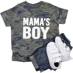 Mama Mama's Boy Camo T-Shirts, Mommy and Me Outfits(2 Shirts are Sold Separately) Mom Son Matchin...   Amazon (US)