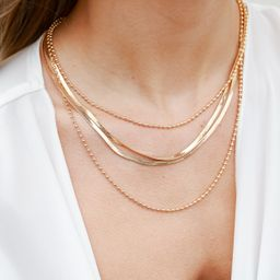 Layla Gold Layered Necklace | Dress Up