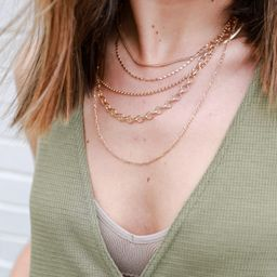 Eliza Gold Chain Layered Necklace | Dress Up