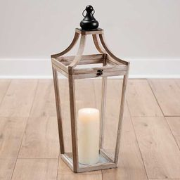 Wood and Metal Cathedral Lantern | Kirkland's Home