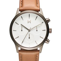 Women's Duet Brown Leather Strap Watch 38mm | Macys (US)