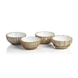 Wicker & Bamboo Condiment Bowl   Monika Hibbs Home