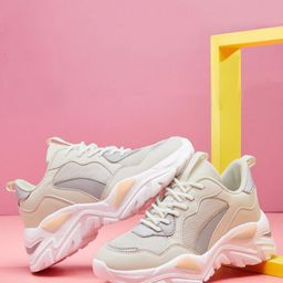 Lace Up Front Chunky Sneakers | SHEIN