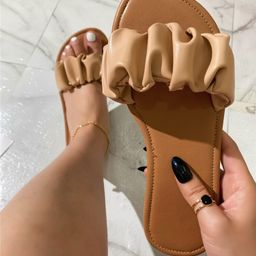Ruched Slide Sandals | SHEIN