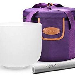 TOPFUND 432 hz F Note Crystal Singing Bowl Heart Chakra 8 inch with Heavy Duty Carrying Case and ... | Amazon (US)