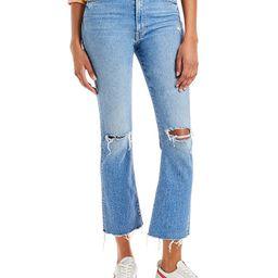 The Hustler Flared Leg Distressed Ankle Jeans in Understudy   Bloomingdale's (US)