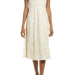 Flourishing Embroidered Lace Fit & Flare Dress   Nordstrom