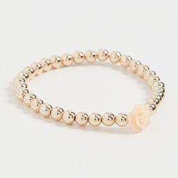 5MM Gold Ball Bracelet With Flower | Shopbop