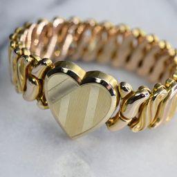 Vintage Sweetheart Expansion Bracelet Gold Filled c.1940s | Etsy (US)