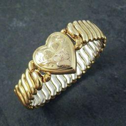Vintage S.O. Bigney & Co. Engraved Love Token with Expandable Bracelet, Circa 1940. | Etsy (US)