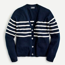 Relaxed-fit cashmere cardigan sweater in stripe | J.Crew US