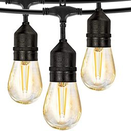 LED Outdoor String Lights, 48FT with 2W Dimmable Edison Vintage Plastic Bulbs and Commercial Grea... | Amazon (US)